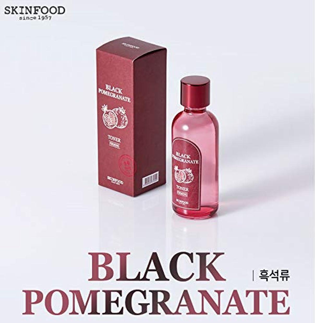 パテ解き明かす通り[スキンフード] SKINFOOD [黒ザクロ ベースライン] (Black Pomegranate Skin care) (No.01 Black Pomegranate Toner(180ml)) [並行輸入品]