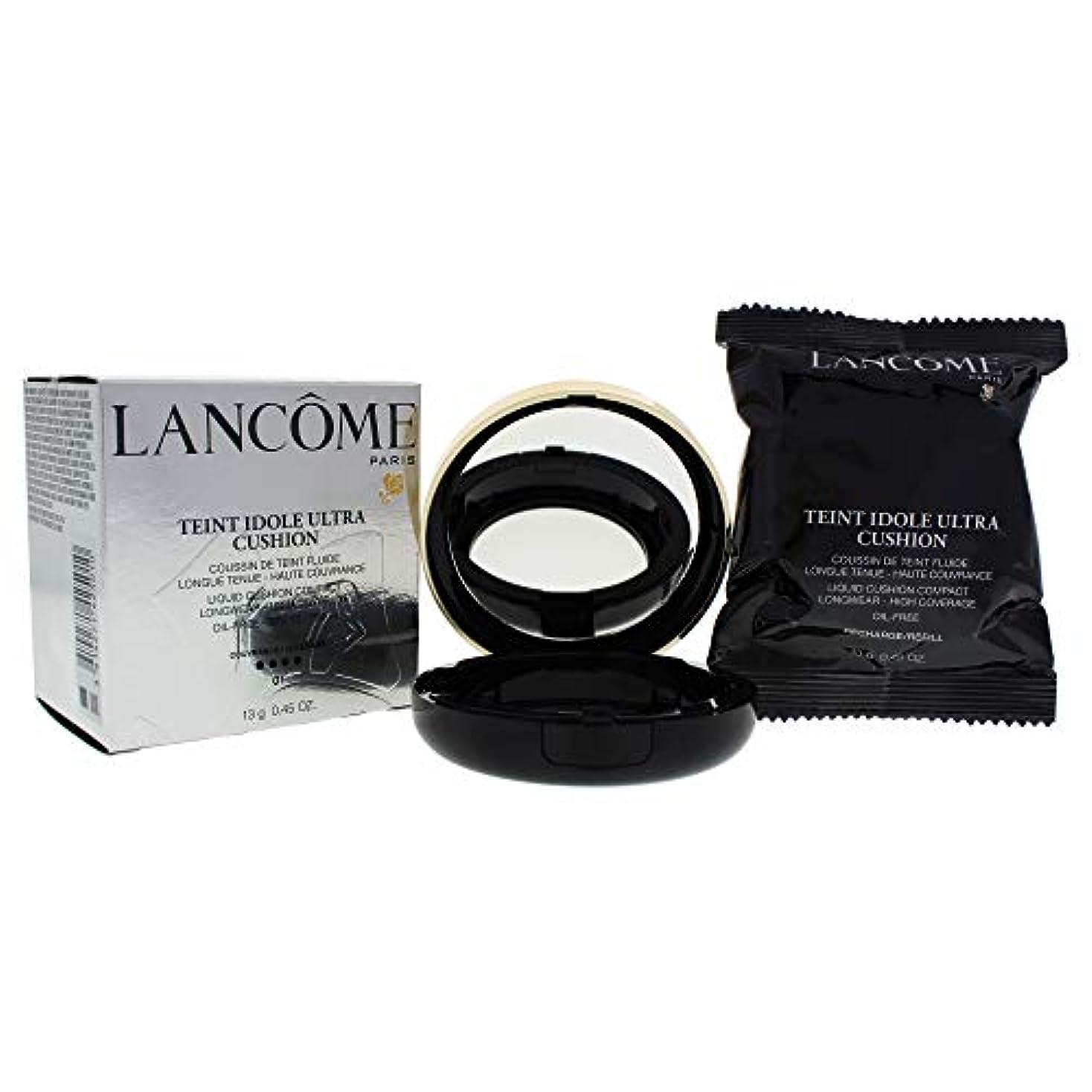 巨大な抽出熟したランコム タン イドル ウルトラクッションリキッドクッションコンパクト SPF 50# 01 Pure Porcelaine