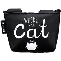 猫の王様 可愛いの財布 コインバッグ 鍵のバッグ カートゥーンのお財布 動物 ブラック ホワイト 字母 簡素 ファッション 精緻感 男女共通 短い財布