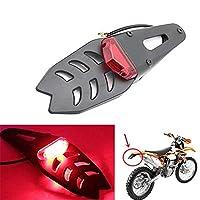 オートバイLEDリアフェンダーテールライト、ターンシグナルライトリアランプ12Vテールライトブレーキランプ、モトクロス用ユニバーサル (Color : Red)