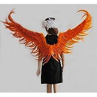 [FERE8890] レディース メンズ 翼 天使 天使の羽 子供 フラワーガール クリスマス Xmas パーティーハ ロウィン コスプレ 道具 結婚 舞台用 天然羽製 Angell 仮装 変身変装 翼 羽 男女兼用
