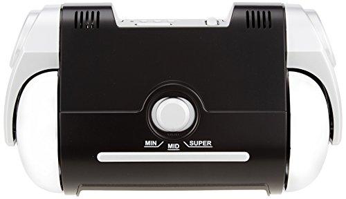 セイコー クロック 目覚まし時計 電波 デジタル 大音量 PYXIS ピクシス SUPER RAIDEN スーパーライデン 黒 メタリック NR523K SEIKO