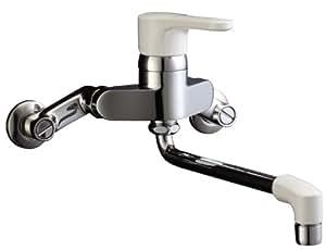 LIXIL(リクシル) INAX シングルレバー壁付キッチン水栓 泡沫 取付ピッチ120~215mm 吐水口長さ220mm 寒冷地仕様 RSF-561N