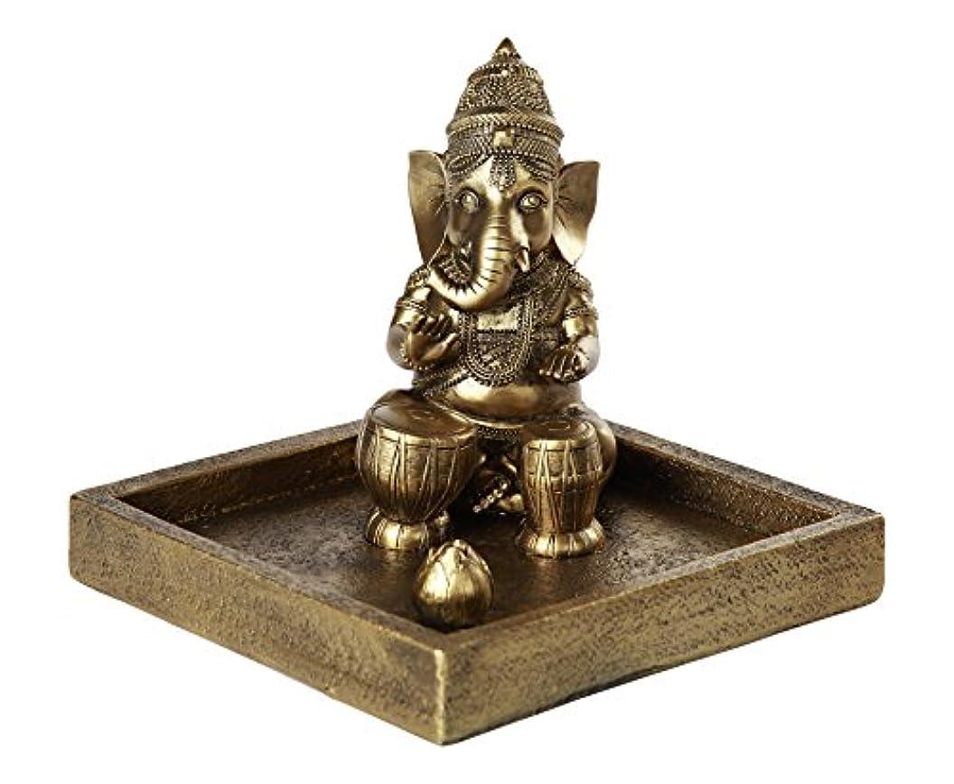 拍車つらい兵士Hindu God Ganesha Elephant Headed Deity Meditation Incense Burner 6インチ