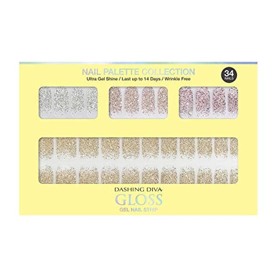 形成落胆させる州ダッシングディバ グロスジェル ネイルストリップ DASHING DIVA Gloss Gel Nail Strip DGNP07-DURY+ オリジナルジェル ネイルシール Lemon #07 Sparkling Powder