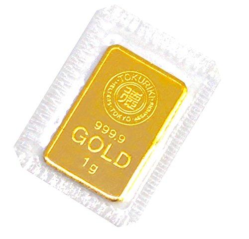 徳力 ゴールドバー ラミネート入り 1g インゴット 日本製1gの純金 24金 Gold Bar K24 tokuriki