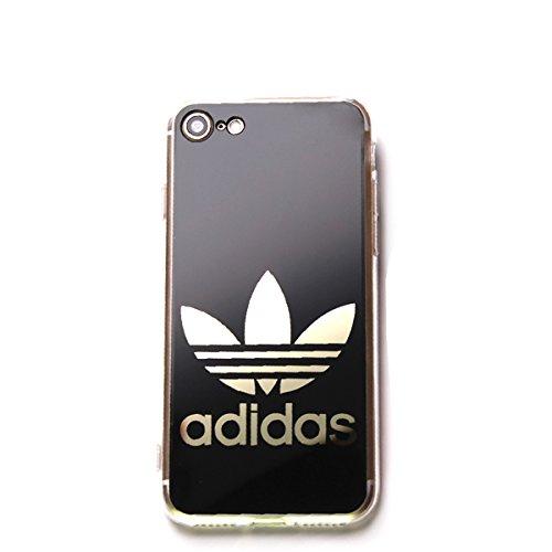 iPhone7 iPhone8 ブラック 鏡面ロゴ きらきら...