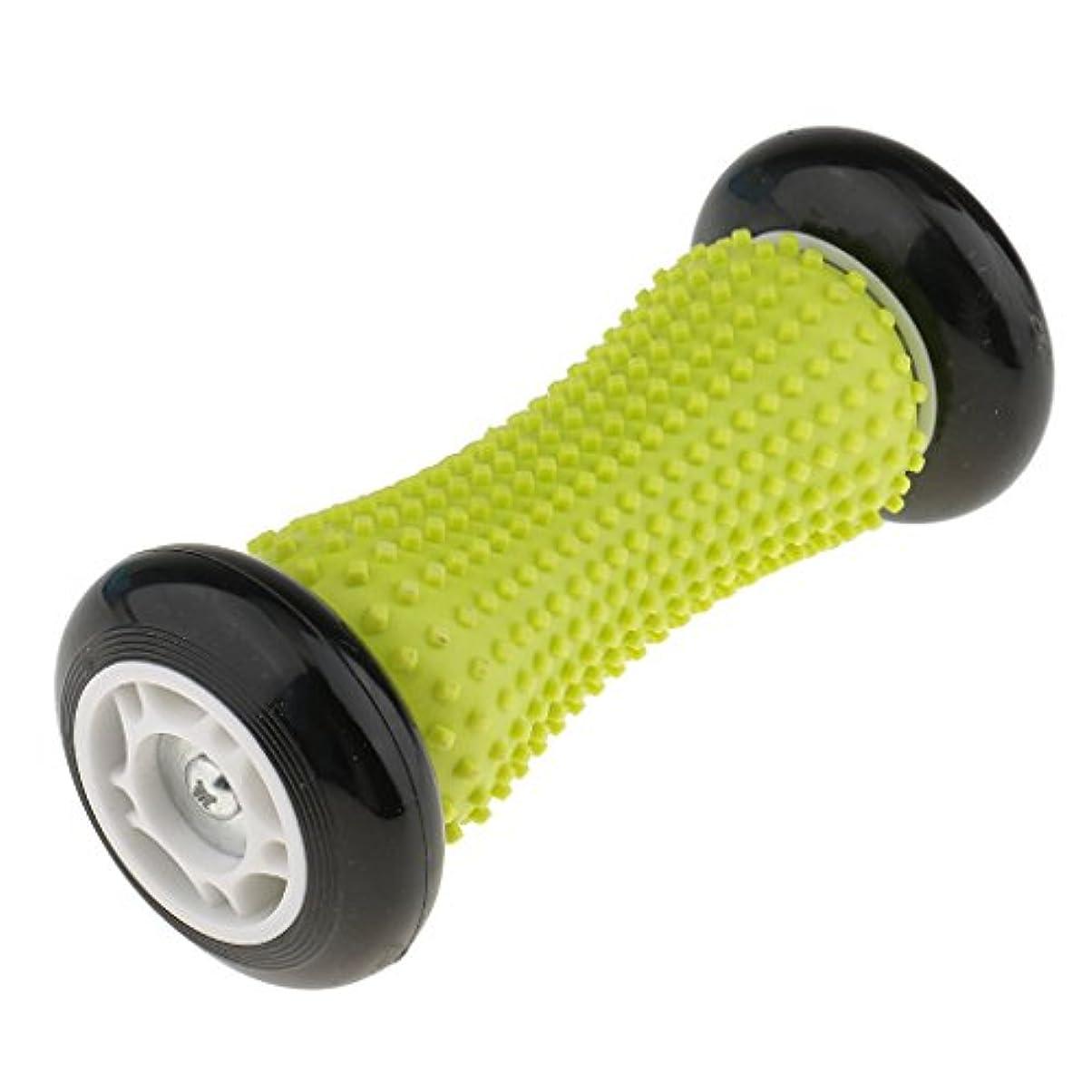 chiwanji 足底筋膜炎かかと足アーチ痛み緩和のためのフットマッサージローラー - イエロー&ブラック