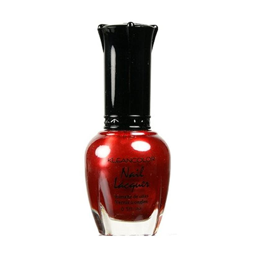 (6 Pack) KLEANCOLOR Nail Lacquer 2 - Red Heart (並行輸入品)