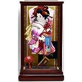 廣栄作 人形の廣榮 羽子板飾り 10号 ガラスケース入り 10華麗×14-15