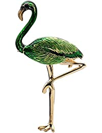 BIGBOBA Exotic Style Color Drip Flamingo Stereo Brooch Anniversary Gifts Valentine's Day for Men Women Adult
