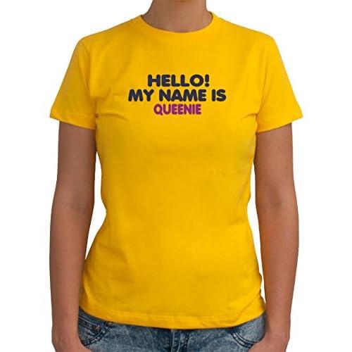 Hello! My name is Queenie 女性のTシャツ