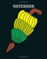 Notebook: bananas - 50 sheets, 100 pages - 8 x 10 inches