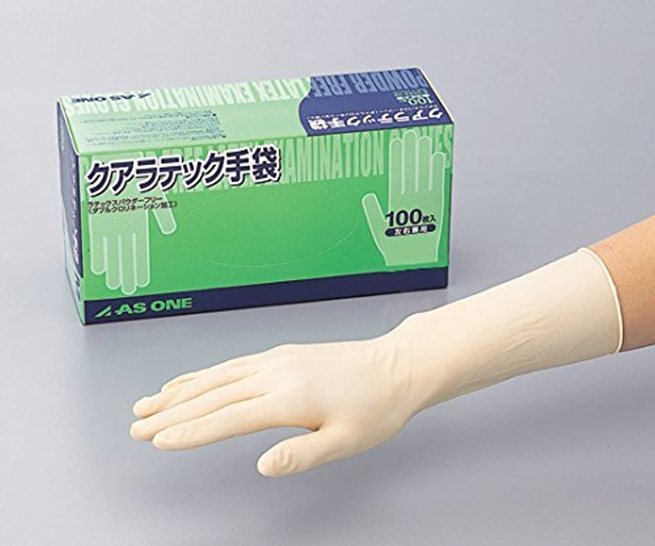 いっぱい令状豪華なアズワン8-4053-01クアラテック手袋(DXパウダーフリー)L1箱(100枚入)