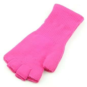 指なし グローブ ニット 手袋 iPhoneスマートフォンも楽々操作! GLOVE-1-03.ピンク