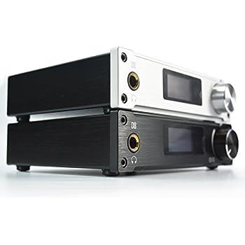 ALIENTEK D8 XMOS HiFiヘッドフォンアンプ+DACデコーダ 80W*2 同軸/光/ USB (シルバー)