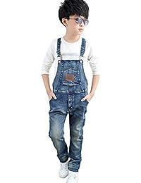 [FERE8890] 男の子 女の子 サロペット パンツ オーバーオール ズボン ジーンズ 子供用 カジュアル 簡約 男女兼用 ファッション かっこいい 九分丈
