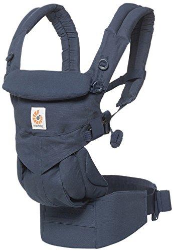 エルゴベビー(Ergobaby) 抱っこひも おんぶ 前向き抱き [日本正規品保証付] (洗濯機で洗える) ベビーキャリア 成長にフィット オムニ360/ミッドナイトブルー ADAPT CREGBCS360BLU