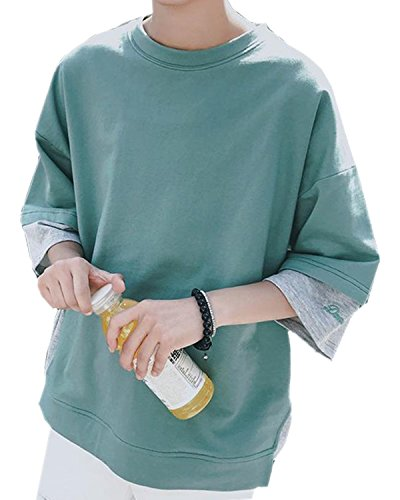 STRDK Tシャツ 半袖 カットソー メンズ ゆったり おしゃれ 薄手 涼しい カジュアル オールシーズン メンズtシャツ 紳士tシャツ 春 夏服  Tシャツ ゆったり個性 スポーツ ファション 涼しいtシャツ パーカー