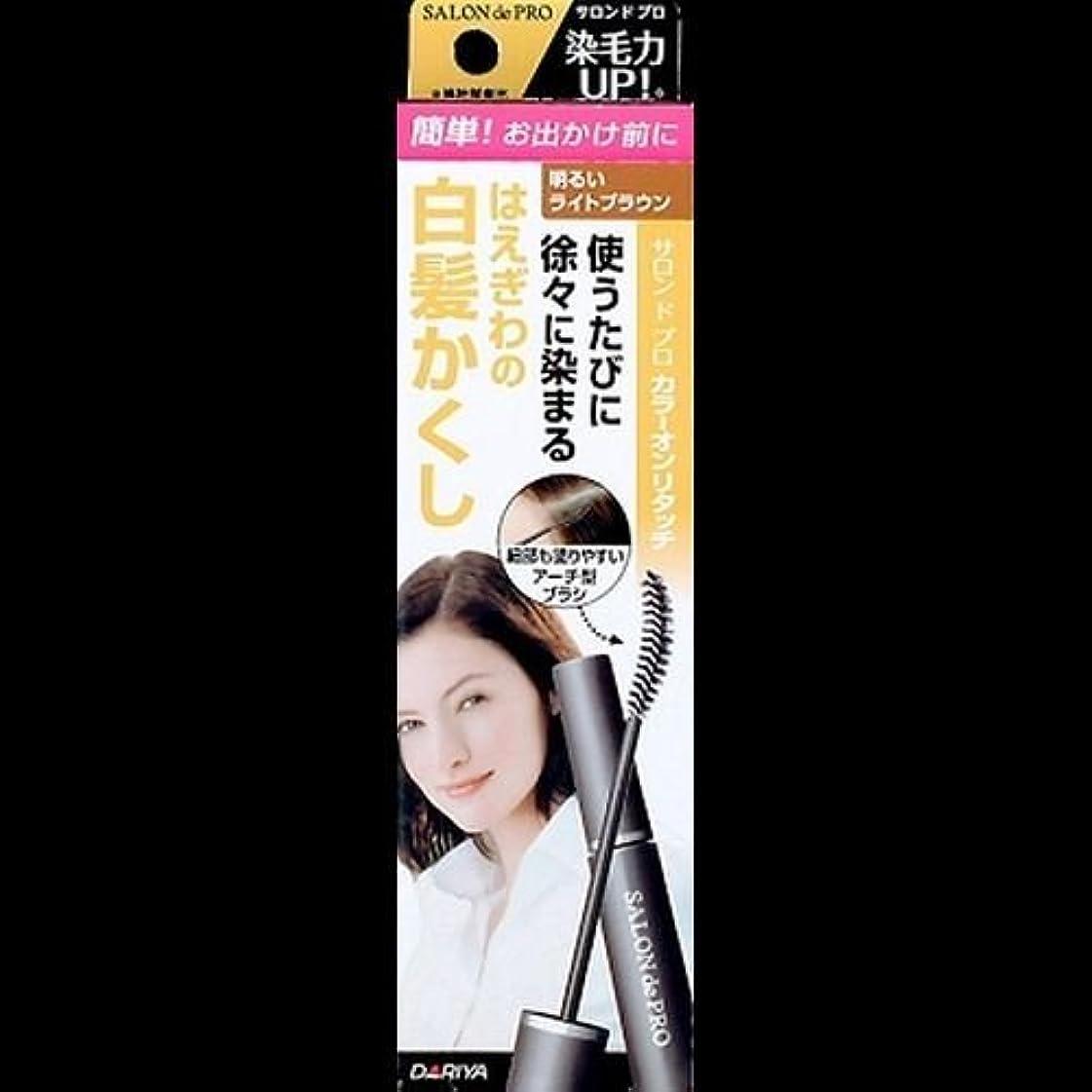 動かす再生早熟【まとめ買い】サロンドプロ カラーオンリタッチ 白髪かくしEX 明るいライトブラウン 15ml ×2セット