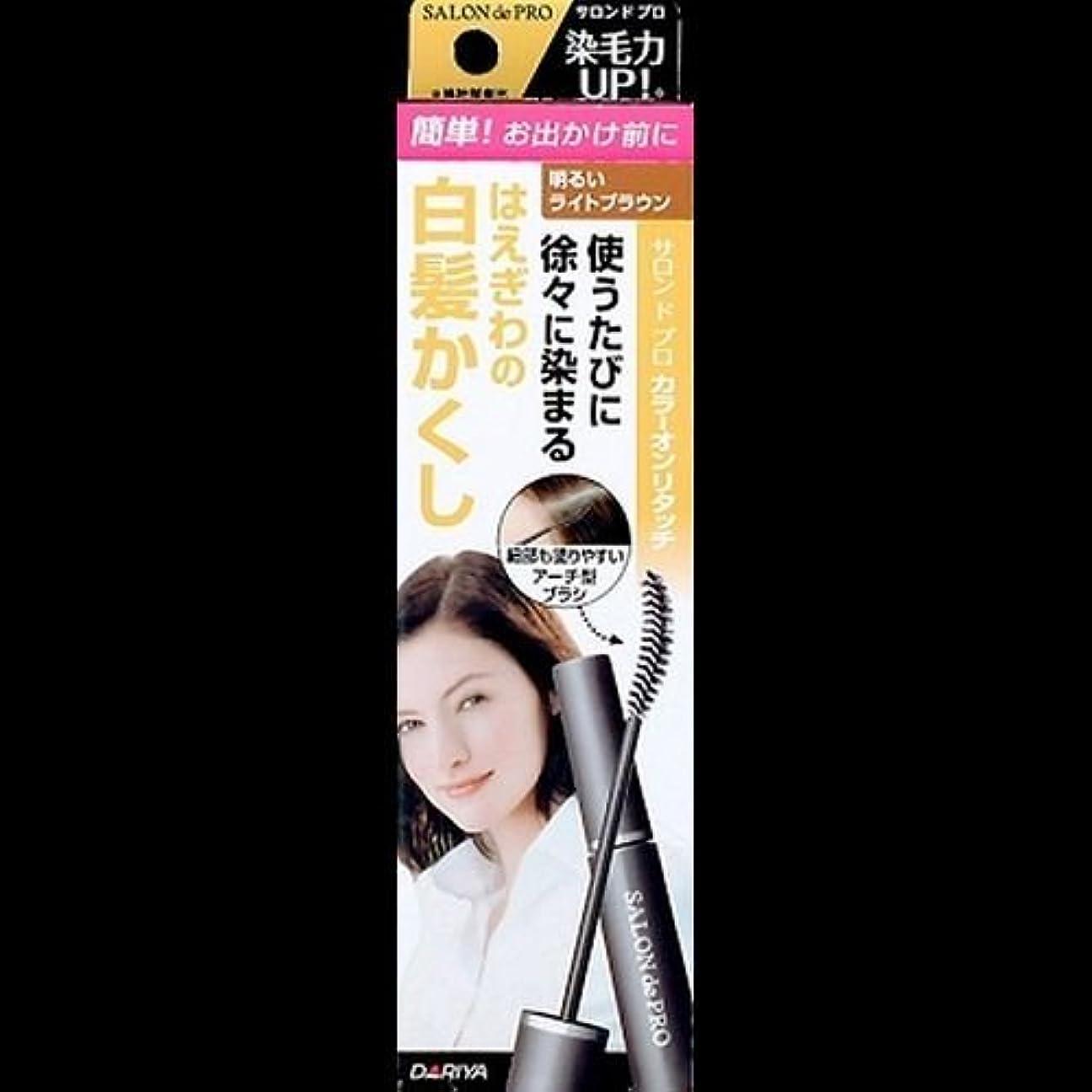 溶融コマンド製油所【まとめ買い】サロンドプロ カラーオンリタッチ 白髪かくしEX 明るいライトブラウン 15ml ×2セット