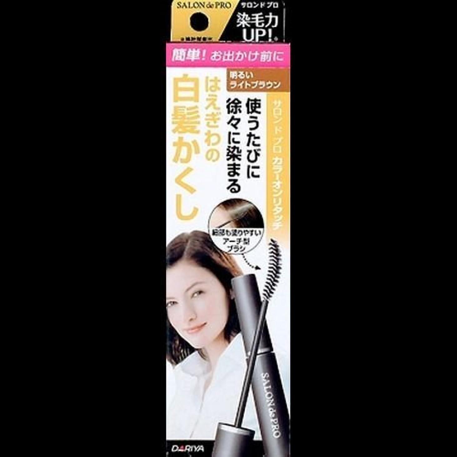 【まとめ買い】サロンドプロ カラーオンリタッチ 白髪かくしEX 明るいライトブラウン 15ml ×2セット