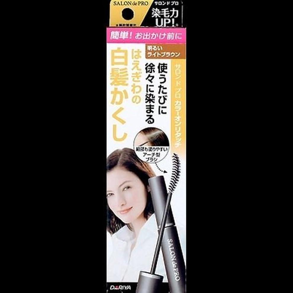 うめき呼吸手順【まとめ買い】サロンドプロ カラーオンリタッチ 白髪かくしEX 明るいライトブラウン 15ml ×2セット