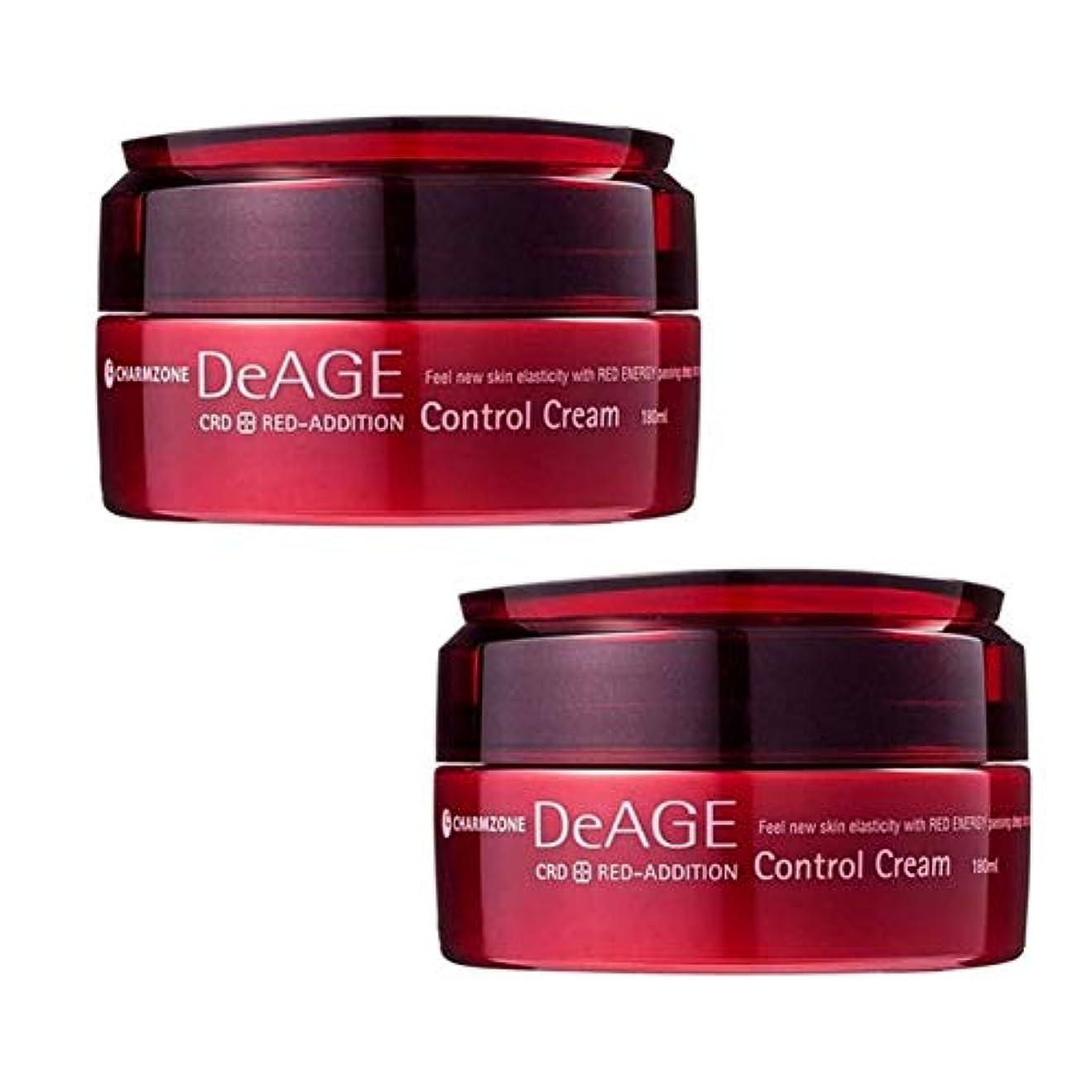 パーツ前投薬カヌーチャムジョンディエイジレッドエディションコントロールクリーム180ml x 2本セットマッサージクリーム、Charmzone DeAGE Red-Addition Control Cream 180ml x 2ea Set...