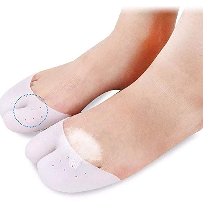 休憩案件雲ゲルつま先カフパッド、足の親指前足パッド、フットパッド足の保護パッド支持ボール/バレエシューズの10組 (A)