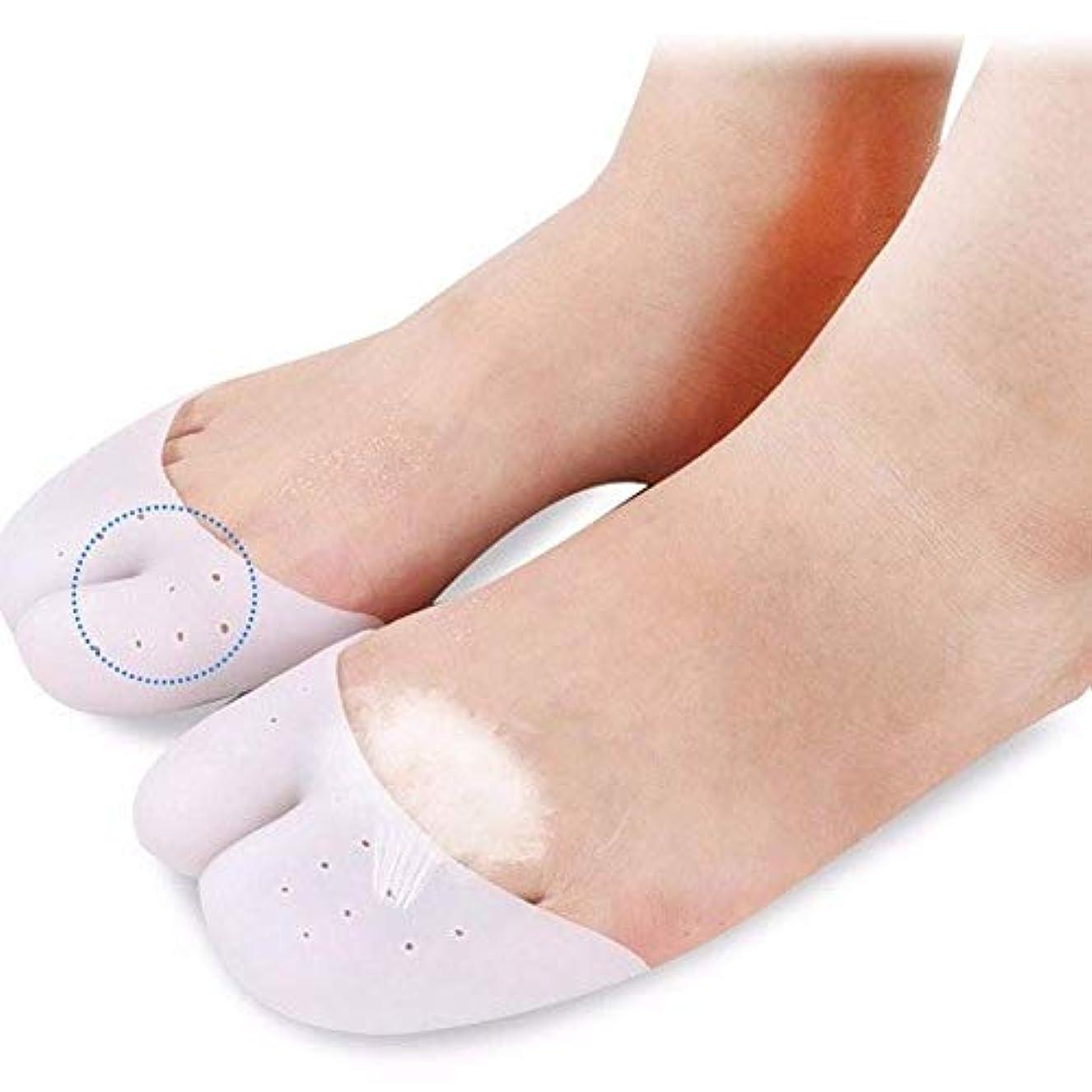 尊厳出発保存ゲルつま先カフパッド、足の親指前足パッド、フットパッド足の保護パッド支持ボール/バレエシューズの10組 (A)