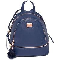 Colette Hayman - Bridget Navy Medium Rose Gold Hardware Backpack