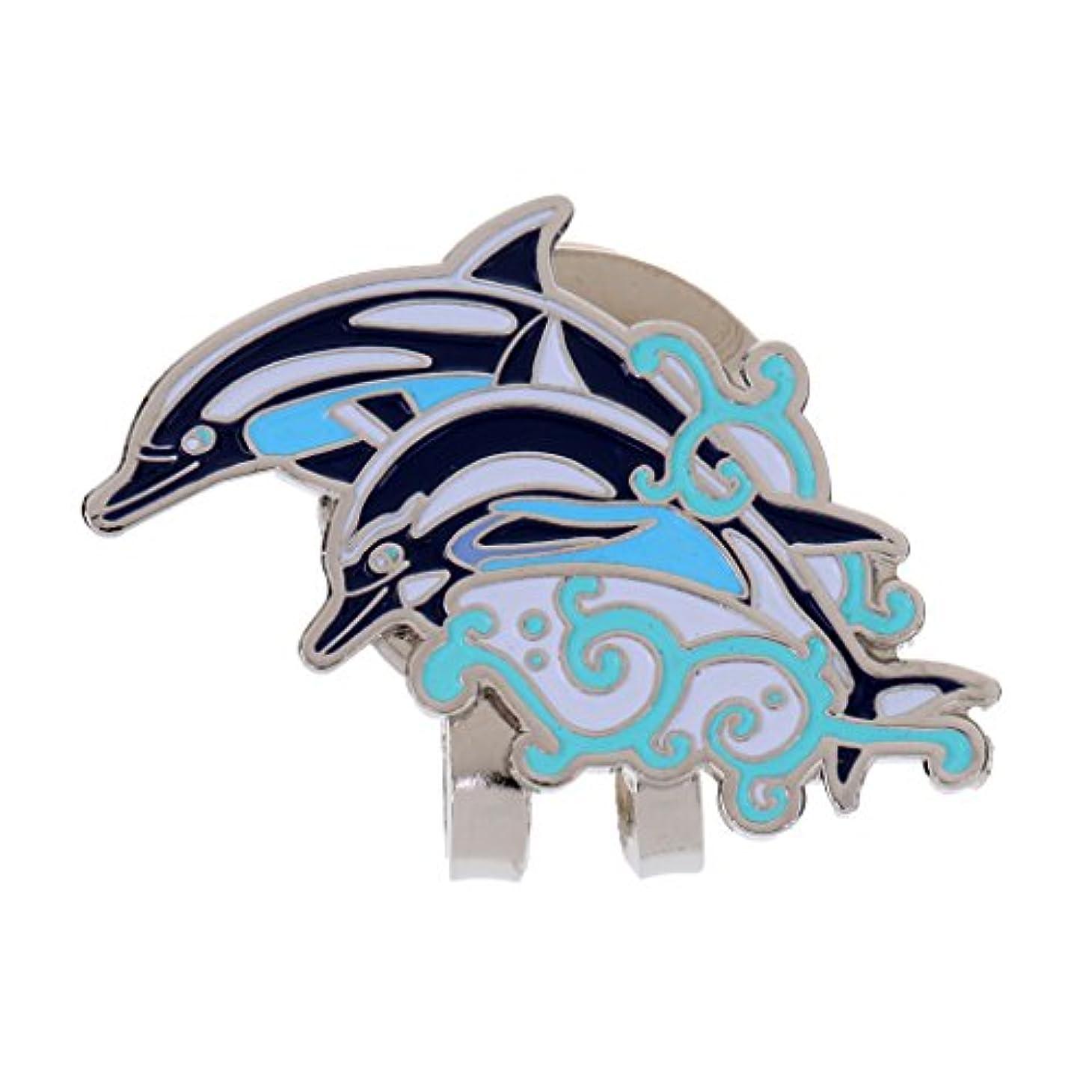 資格情報ジャンクボルトmonkeyjack Cute Dolphin Pattern磁気帽子クリップゴルフボールマーカーフィットforゴルフキャップバイザーGolferギフト