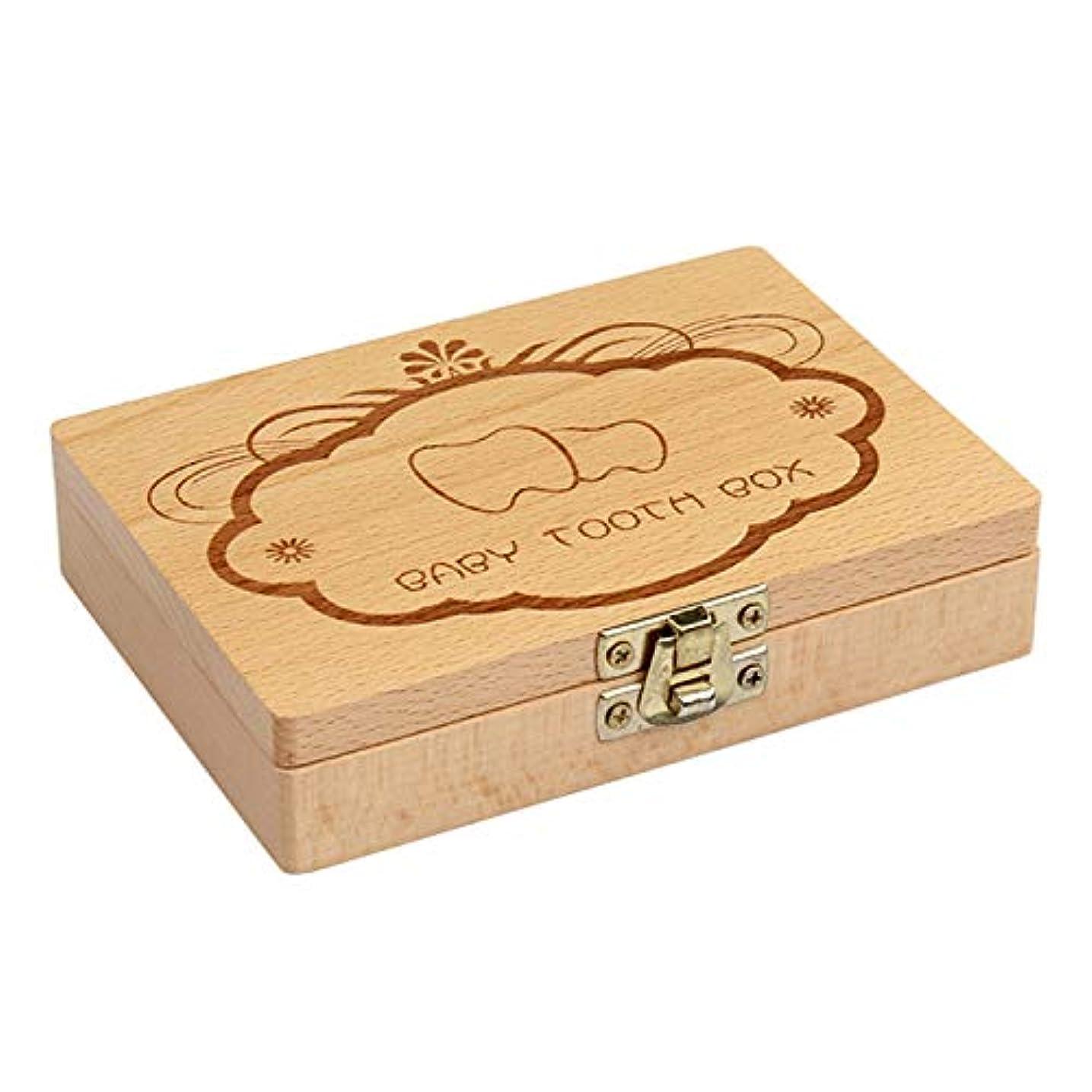退院保守可能はげACAMPTAR 木製キッズベビーミルク歯ボックスオーガナイザー木材収納赤ちゃん歯ボックス、男の子女の子用歯の保存ギフト
