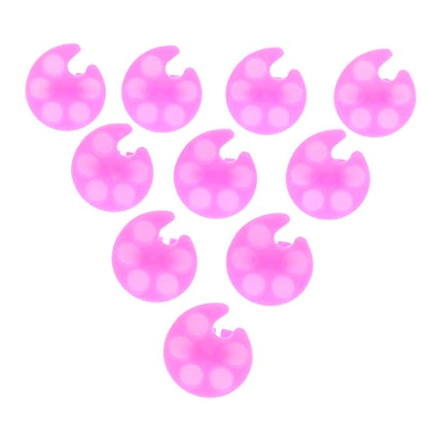 想定彫刻家名門CUTICATE 約10個 ネイルパレット ネイルアートパレット 顔料 プレート ネイルポリッシュ リング付き 全5色 - ピンク01
