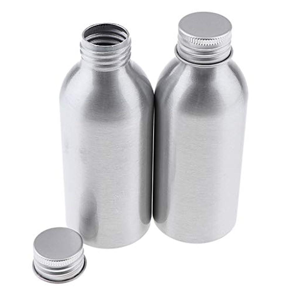肺遮る情熱的CUTICATE 2本 アルミボトル シルバー 空ボトル 化粧品収納容器 ディスペンサーボトル 5サイズ選べ - 120ml