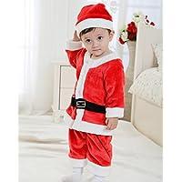 1544e87de677f サンタ コスプレ衣装 サンタ 衣装 男の子 子供 サンタ コスチューム キッズ 子供服 サンタクロース 帽子付き ロンパース