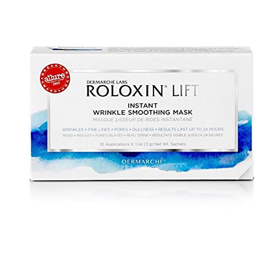 Dermarche Labs ROLOXIN LIFT Wrinkle Smoothing Mask 10 Count (Pack of 6) - リフトリンクルスムージング ラボは10カウントがマスク x6 [並行輸入品]
