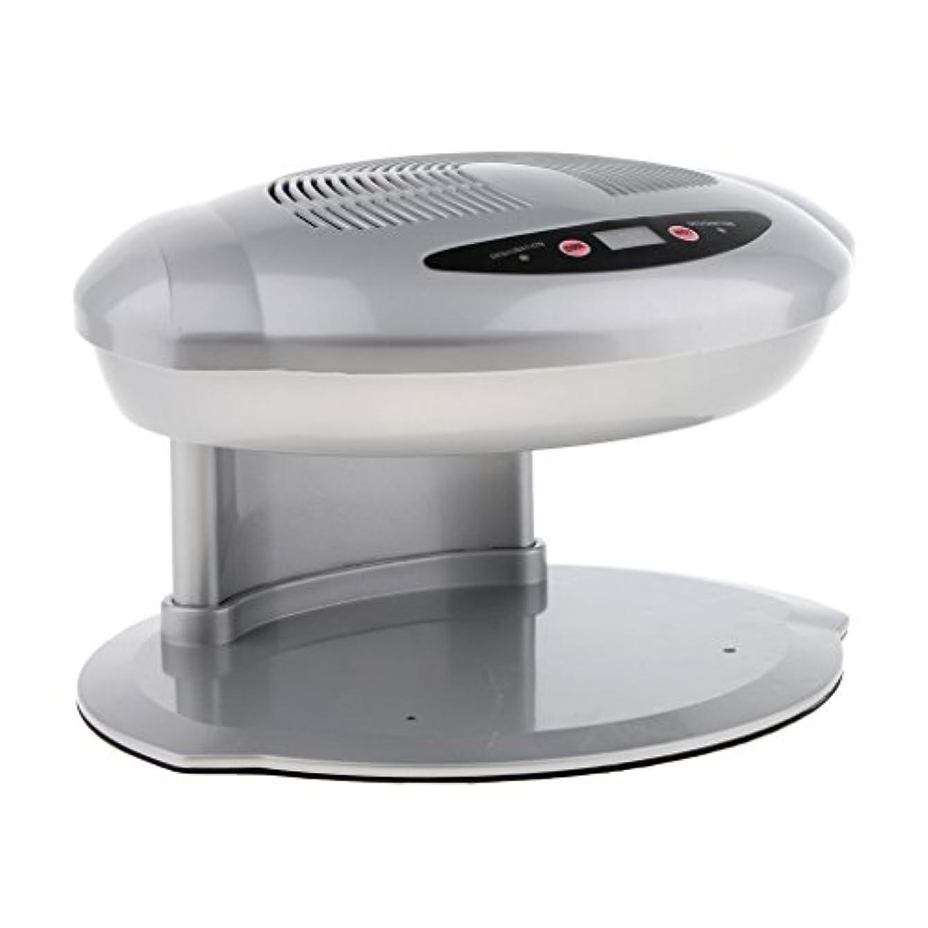 放棄された無視する淡いPerfk ネイルファン ドライヤー ネイルアート プロ 自動センサー 乾燥機 暖かい 涼しい 空気ファン