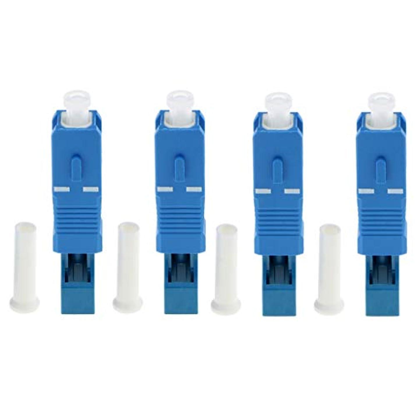 シェード治す絶滅させるKESOTO 光ファイバ LC SC アダプタ オス‐メス 2.5 to 1.25mm シングルモード 4個セット