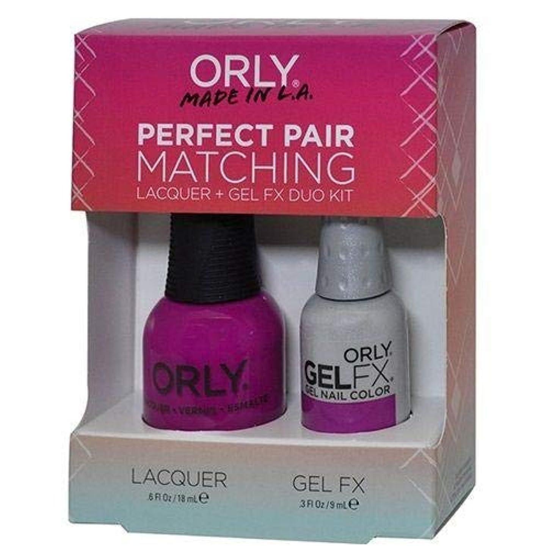 要旨保守的ちらつきOrly Nail Lacquer + Gel FX - Perfect Pair Matching DUO - Purple Crush