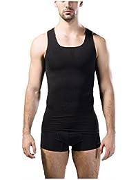 Rosieメンズボディシェイパー腹部スリムシャツ圧縮タンクスリミングベストの腹部ウエストShaperwear