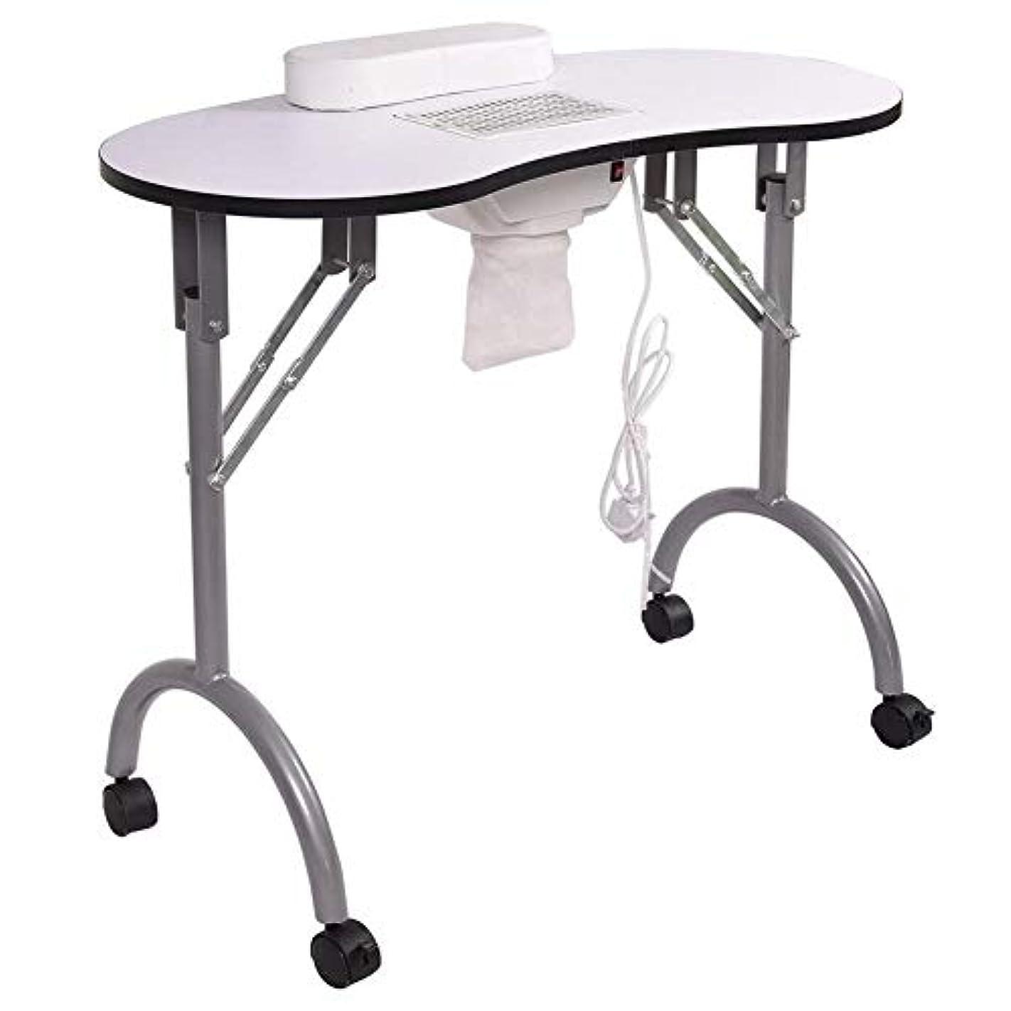 階広い爆弾ネイルテーブルマニキュアテーブル折りたたみポータブルベントネイルデスクワークステーションサロンスパwithネイル掃除機andbag