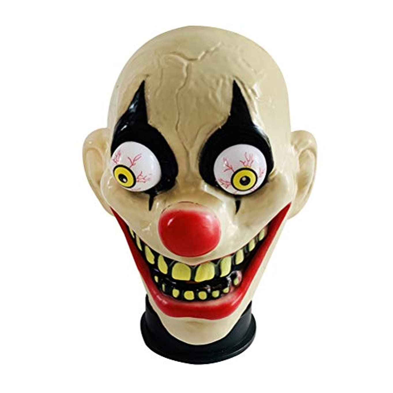出身地終わり音節BESTOYARD ハロウィーン怖いピエロマスクテロホラーピエロヘッドカバーハロウィンコスプレパーティー用男性用マスク(ピエロタイプ)