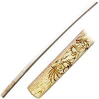 【国産木刀】白樫 レーザー彫り木刀「龍」