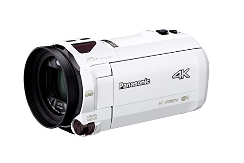 Panasonic 4K ビデオカメラ VX985M 64GB あとから補正 ホワイト HC-VX985M-W