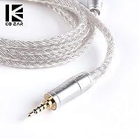 KB EAR 4842 アップグレードケーブル 16芯 銀メッキケーブル 交換用リケーブル 音質向上 MMCX/2PIN/QDC 2.5/3.5/4.4対応 (4.4QDC)
