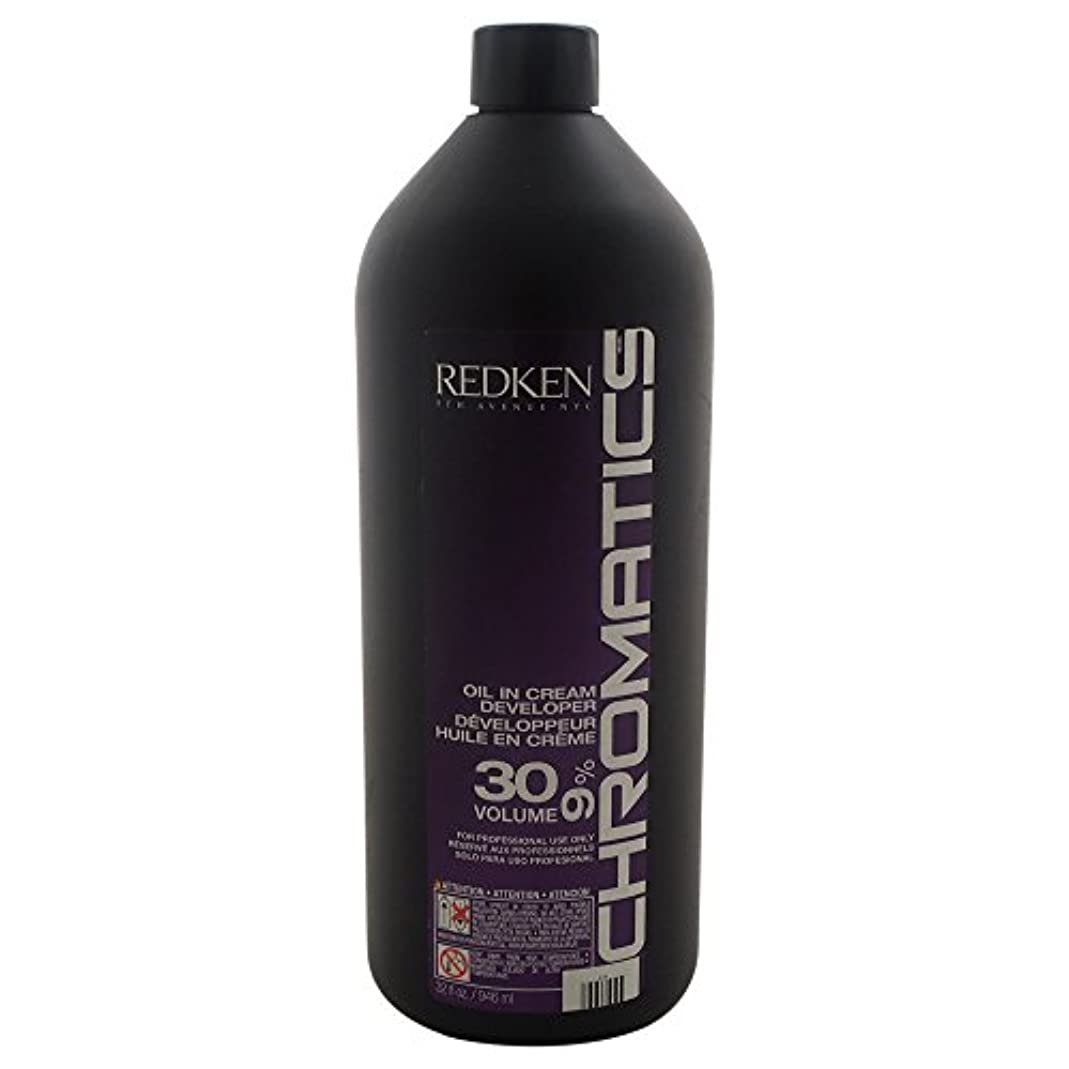 警察署ナチュラ邪悪なRedken Chromatics Oil In Cream Developer 30 Volume 9 Percent Cream, 32 Ounce by Redken