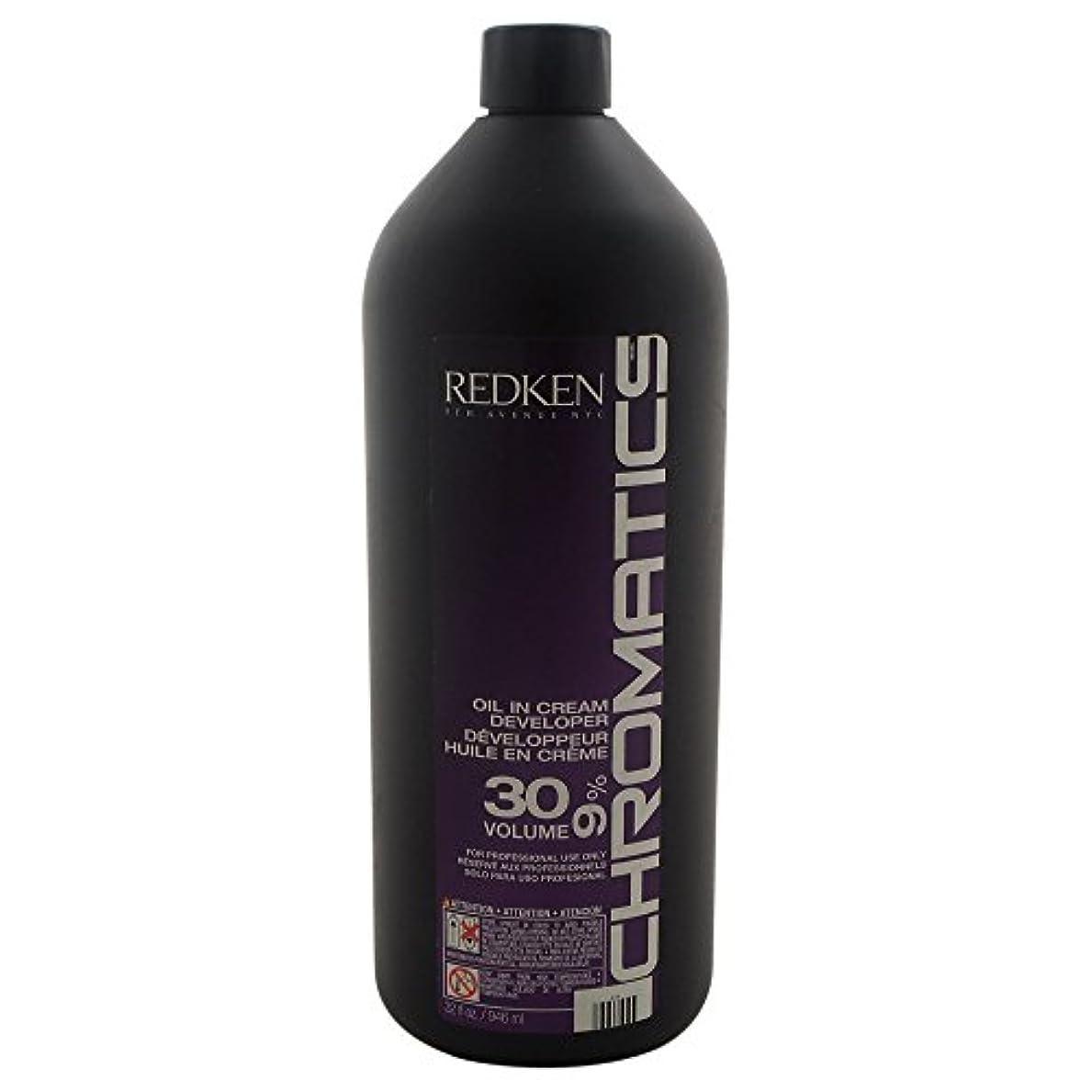印象派九時四十五分容疑者Redken Chromatics Oil In Cream Developer 30 Volume 9 Percent Cream, 32 Ounce by Redken