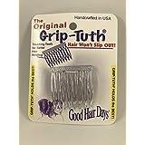 Good Hair Days Grip Tuth Hair Combs 40072 Set of 2, Clear 1 1/2