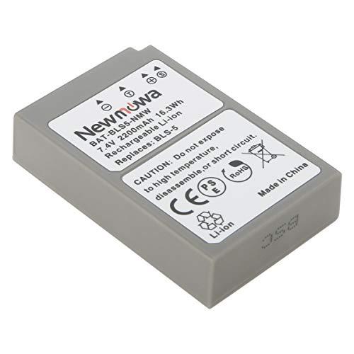 Newmowa BLS-5 バッテリー 1個 対応機種 Olympus BLS-5, BLS-50, PS-BLS5,Olympus OM-D E-M10, PEN E-PL2, E-PL3, E-PL5, E-PL6, E-PL7, E-PL8, E-PM2